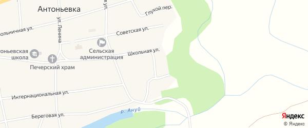 Лесной переулок на карте села Антоньевки с номерами домов