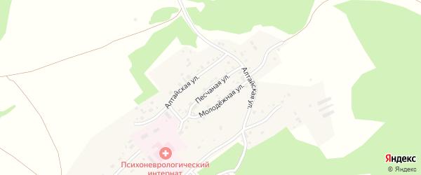 Песчаная улица на карте Лесного поселка с номерами домов
