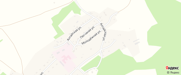 Молодежная улица на карте поселка Лесная Поляна с номерами домов