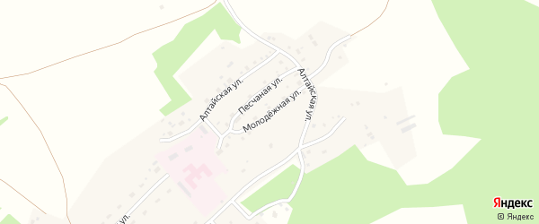 Молодежная улица на карте Лесного поселка с номерами домов