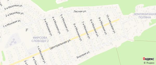 Моховая 6-я улица на карте села Фирсово с номерами домов