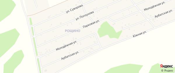 Рощино мкр Молодежная улица на карте села Фирсово с номерами домов