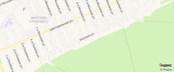 Боровая улица на карте садового некоммерческого товарищества Геолога-1 с номерами домов