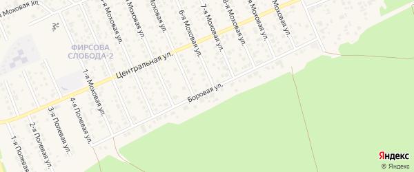 Боровая улица на карте садового некоммерческого товарищества Автомобилиста с номерами домов