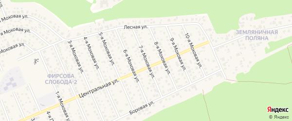 7-я улица на карте садового некоммерческого товарищества Медика с номерами домов
