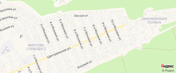 Моховая 7-я улица на карте села Фирсово с номерами домов