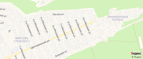 Моховая 8-я улица на карте села Фирсово с номерами домов