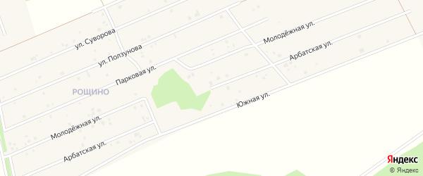 Арбатская улица на карте села Фирсово с номерами домов