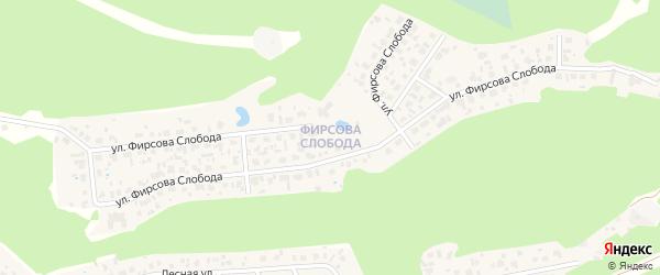 Микрорайон Фирсова слобода на карте села Фирсово с номерами домов