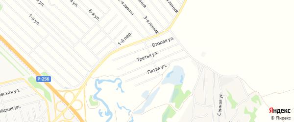 Карта территории ДНТ Сибири в Алтайском крае с улицами и номерами домов