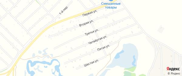 6-я улица на карте территории ДНТ Сибири с номерами домов