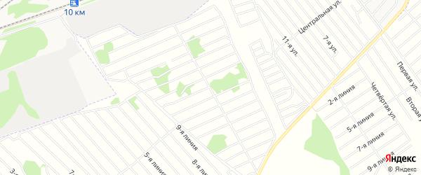 Карта садового некоммерческого товарищества Надежды в Алтайском крае с улицами и номерами домов