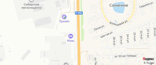 Дорожная улица на карте Новоалтайска с номерами домов
