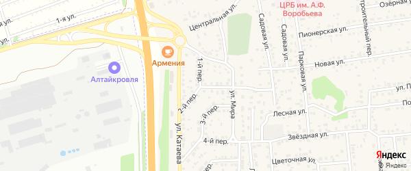Второй переулок на карте села Березовки с номерами домов