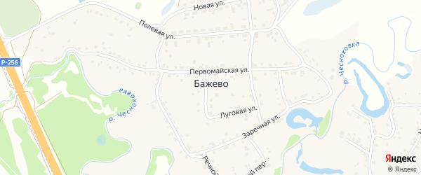 Березовая улица на карте поселка Бажево с номерами домов