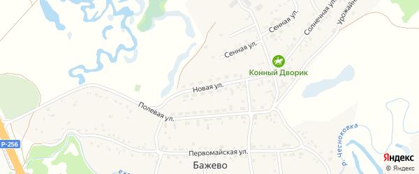 Новая улица на карте поселка Бажево с номерами домов