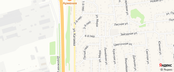 2 квартал 4-й переулок на карте садового некоммерческого товарищества Феникса с номерами домов