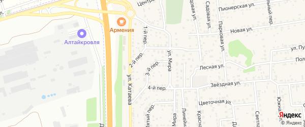 2 квартал 3-й переулок на карте садового некоммерческого товарищества Феникса с номерами домов