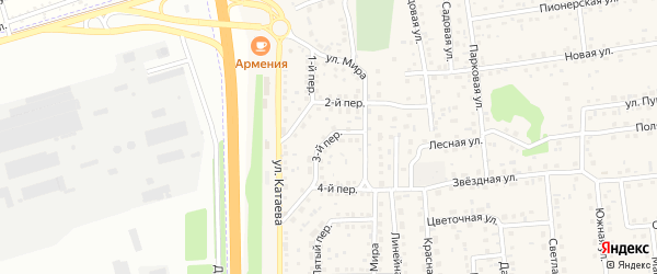 Третий переулок на карте села Березовки с номерами домов