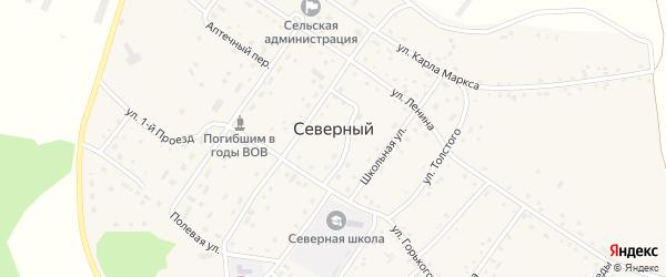 Спортивная улица на карте Северного поселка с номерами домов