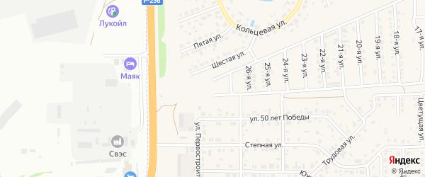 28-я улица на карте Солнечного села с номерами домов