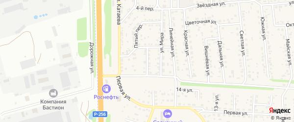 Дружный переулок на карте села Березовки с номерами домов
