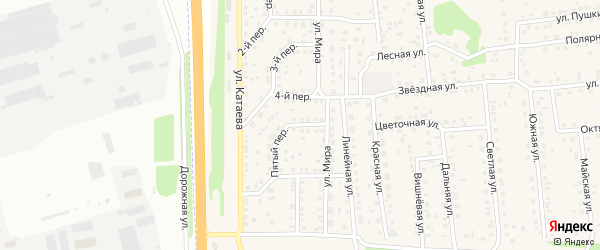 Пятый переулок на карте села Березовки с номерами домов