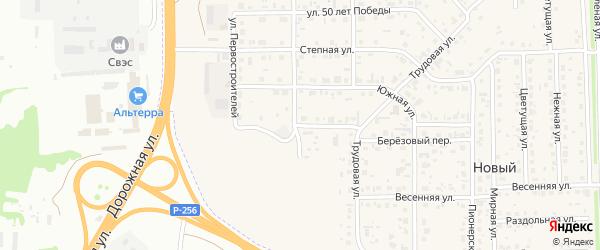 Солнечная улица на карте Нового поселка с номерами домов