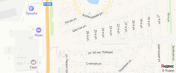 26-я улица на карте Солнечного села с номерами домов