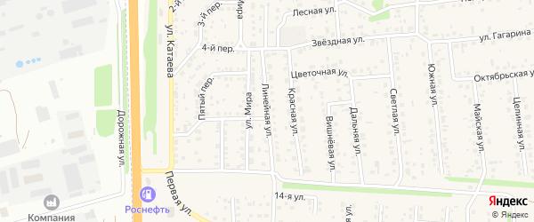 Линейная улица на карте села Березовки с номерами домов