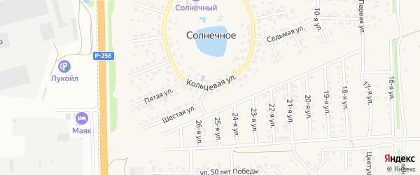 Кольцевая улица на карте Солнечного села с номерами домов