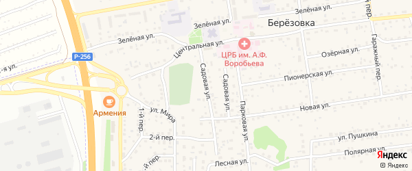 Садовая улица на карте села Березовки с номерами домов
