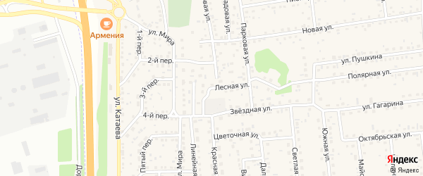 Лесная улица на карте села Березовки с номерами домов