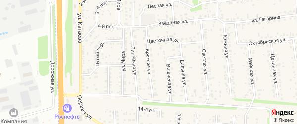 Красная улица на карте села Березовки с номерами домов