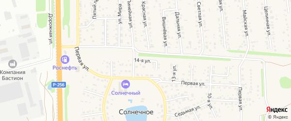 14-я улица на карте Солнечного села с номерами домов