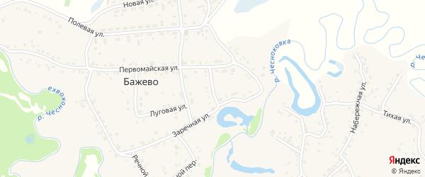 Лазурный переулок на карте поселка Бажево с номерами домов