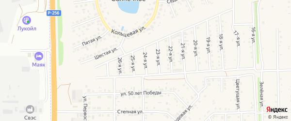 24-я улица на карте Солнечного села с номерами домов