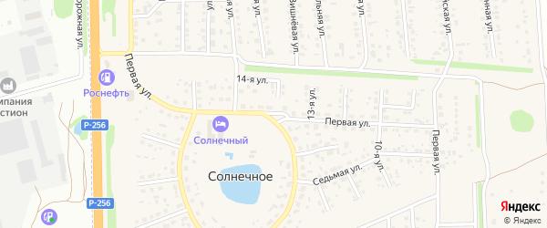 1-я улица на карте Юбилейного садового некоммерческого товарищества с номерами домов