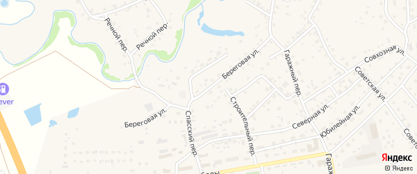 Береговая улица на карте садового некоммерческого товарищества Строителя НКРЗ с номерами домов