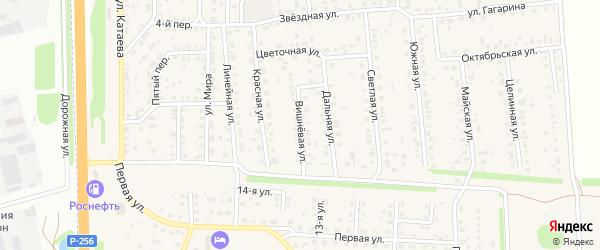 Вишневая улица на карте села Березовки с номерами домов