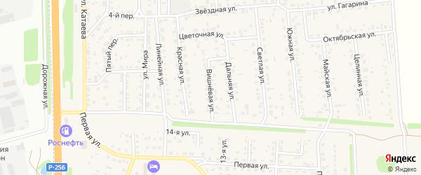 Вишневая улица на карте садового некоммерческого товарищества Бытовика с номерами домов