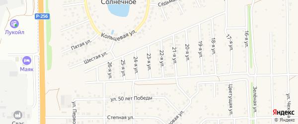 23-я улица на карте Солнечного села с номерами домов