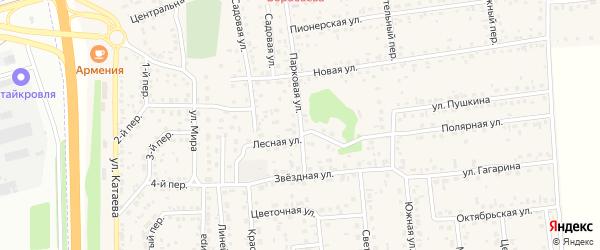 Парковая улица на карте села Березовки с номерами домов