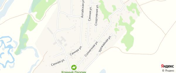 Сенная улица на карте поселка Бажево с номерами домов