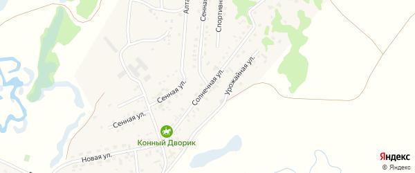 Солнечная улица на карте Новоалтайска с номерами домов
