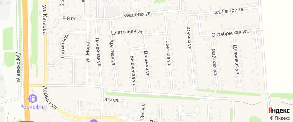 Дальняя улица на карте села Березовки с номерами домов