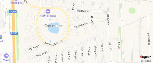 8-я улица на карте Солнечного села с номерами домов