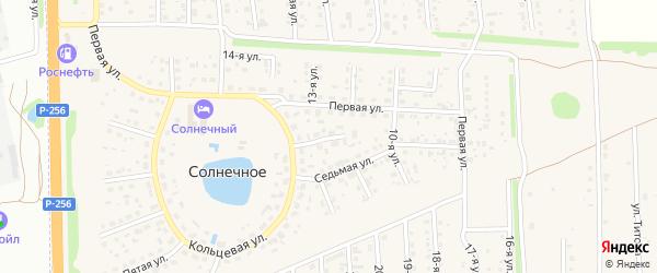 Девятая улица на карте Солнечного села с номерами домов
