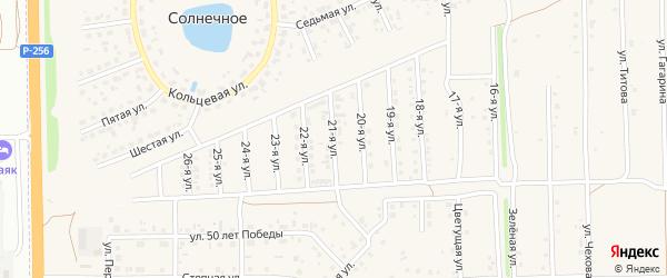 21-я улица на карте Солнечного села с номерами домов