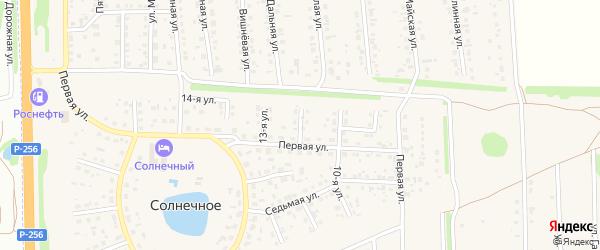 12-я улица на карте Юбилейного садового некоммерческого товарищества с номерами домов